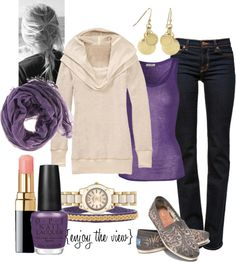 """""""casual purple"""" by enjoytheview on Polyvore"""