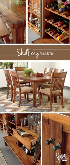 Warm Wood Tones And Extra Storage Make For The Perfect Dining Room Shallibay