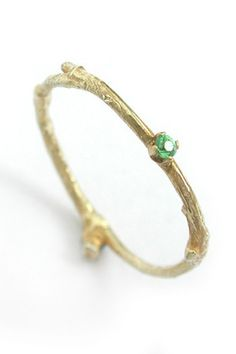 Emerald branch whimsical ring.