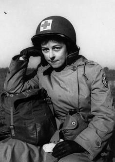 Mary Haynsworth Mathews in field gear, 1944