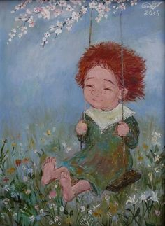 Nino Chakvetadze paintings will take you back to your childhood.She is a contemporary artist from Georgia. Lilac Painting, Painting & Drawing, Art And Illustration, Painting For Kids, Art For Kids, Fernanda Young, Thomas Merton, Pema Chodron, Louise Hay