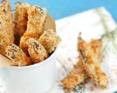 Recette de Bâtonnets d'aubergine panés cuits au four