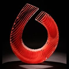Colin Reid: Colour Saturation: Red Spiral