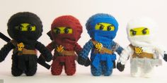 I made these Ninjago Amigurumi for a friend who's son just loves the Lego Characters.