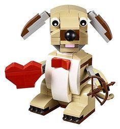 Valentines Lego Cupid Dog Building Kit Bow & Arrow Rotating Head 145 Pieces  #LEGO