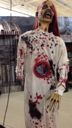 Awesome zombie props at the Halloween store near me.