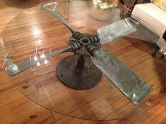 Vintage Propeller Prop Coffee Table by mauzemoorman on Etsy, $2200.00