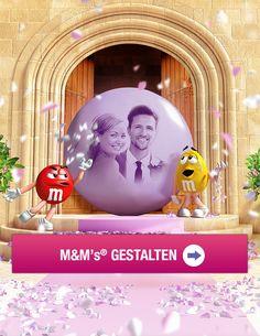 Gastgeschenk Hochzeit / gift for guests  / give away wedding  Ihr Foto auf M&M's - In durchsichtiges Plastikherz mit personalisierten M&M's. Wunderschöne Farbkombinationen vorhanden! Tolle Idee, besonders für die Kleinen.