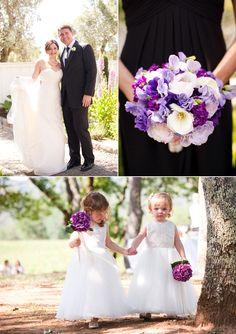 Bouquets Christina & Ben | Purple Vineyard Wedding at B.R. Cohn Winery | Snippet & Ink