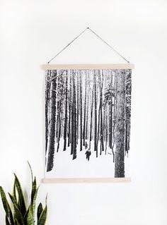 DIY Magnetic Poster Rails