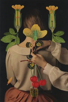 March 2015 ☞ Illustration, Photography ☞ is a collage series by Polish artist and photographer Magdalena Franczuk & Iranian artist Ashkan Honarvar. The collaboration revolved around the notion of Lolita and coming. Flower Plant Images, Illustrations, Illustration Art, Collage Artists, Coming Of Age, Photomontage, Art Photography, Pastel, Photoshop