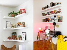 20 ideias de decoração com prateleiras!
