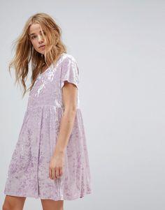 Glamorous - Hängerkleid aus Knittersamt - Violett Jetzt bestellen unter: https://mode.ladendirekt.de/damen/bekleidung/kleider/sonstige-kleider/?uid=acd45db3-514d-5ac3-9f3d-9a1d355404f1&utm_source=pinterest&utm_medium=pin&utm_campaign=boards #sonstigekleider #freizeitkleider #kleider #female #bekleidung