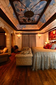 Walls and Ceiling Created by Lazenby's Decorative Arts Studio.... oh my gosh drool over this ceiling!! Need!