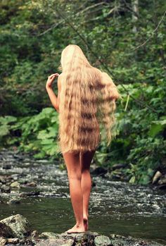 naked in nature | long beautify mane | into the wild | solitude |