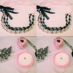 Nothing to do ... Jdinya buat ini  Made by me #necklace #doityourself ❤️