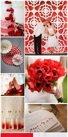Poppy Red Wedding, inspiration board by The Simplifiers | Austin