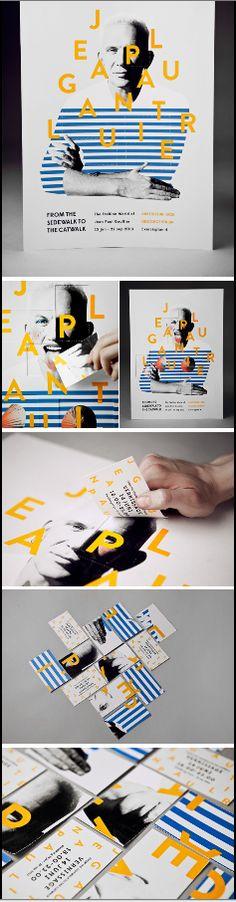 Jean Paul Gaultier exhibit poster. By Amanda Berglund, Gothenburg.