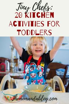 Tiny Chefs: 20 Fun Ideas to get Your Toddler Involved in the Kitchen cooking activities for toddlers Food Activities For Toddlers, Baking With Toddlers, Family Activities, Preschool Activities, Time Activities, Kids Cooking Recipes, Cooking With Kids, Montessori Baby, Toddler Meals