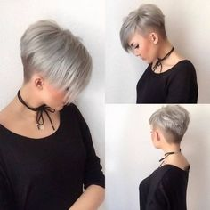 10 Latest short haircuts for fine hair and stylish short hair color trends Curly Hair Cuts color fine hair Haircuts latest short Stylish Trends Latest Short Hairstyles, Haircuts For Fine Hair, Hairstyles 2018, Bob Haircuts, Medium Hairstyles, Short Undercut Hairstyles, Easy Hairstyles, Hair Undercut, Female Hairstyles