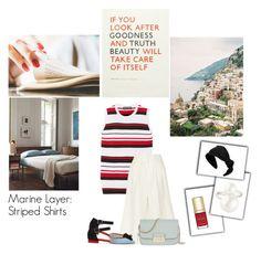 """Marine Layer: Striped Shirts"" by nina-lala on Polyvore featuring moda, Dolce&Gabbana, Apiece Apart, J.Crew, Henri Bendel, RED Valentino, Chanel i stripedshirt"
