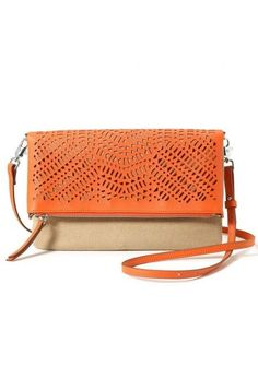 006f6b0704 Don t shy away from our Fresh Orange  amp  Natural Linen Waverly Petite  that. Orange PurseStella And ...