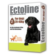 Ectoline 268mg spot-on solution for large dogs (for dogs 20-40kg)    £9.20