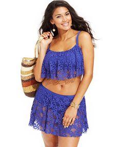 Plus Size Bikini & Swim Skirt - Swimwear - Plus Size - Macy's