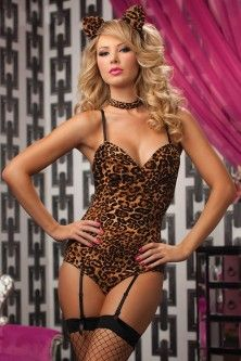 Leopard Print Y Kitty Bedroom Costume Set From Online Which Also S Women Christmas Costumes