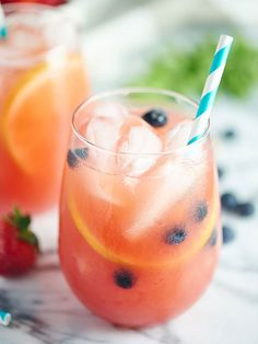 This Watermelon Sangria is summer in a glass! Fresh watermelon, strawberries, & lemons make it so seasonal! The addition of wine & vodka doesn't hurt either. ;) showmetheyummy.com #sangria #summer #cocktails #watermelon #strawberries #vodka #wine