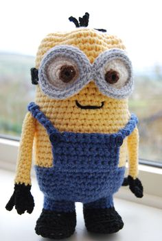 Crochet yourself a Minion - he's big enough to hide a chocolate Easter egg in!