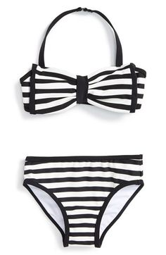 d3a118d044 kate spade new york stripe two-piece halter swimsuit (Toddler Girls &  Little