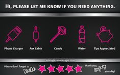 Uber/Lyft/Rideshare sign for passengers by ashmcg15 on Etsy