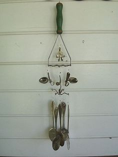 Spoon Chimes | Wind chime made from an antique masher and si… | Flickr