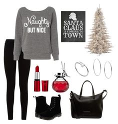 """""""Christmas Sweater"""" by zpdumasia on Polyvore featuring 7 For All Mankind, Dr. Martens, Marc by Marc Jacobs, Michael Kors, Cartier and Van Cleef & Arpels"""