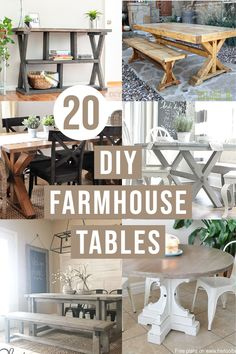 Looking for DIY farmhouse table ideas? Here are 20 gorgeous project ideas and plans to help inspire you to make your own Farmhouse Table. #farmhouse #diyfurniture #AnikasDIYLife Scrap Wood Projects, Woodworking Projects That Sell, Diy Woodworking, Diy Farmhouse Table, Farmhouse Furniture, Diy Furniture Plans, Furniture Projects, Wood Projects For Beginners, Kreg Jig