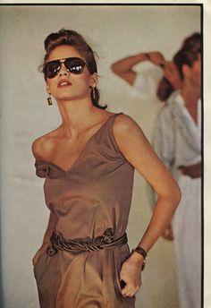 Gia Carangi in Vogue magazine