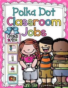 Classroom Jobs (Polka Dot)