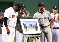 Red Sox gifting Yankees great Mariano Rivera his retirement present.