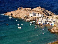 VISIT GREECE| Fyropotamos village on #Milos #Cyclades