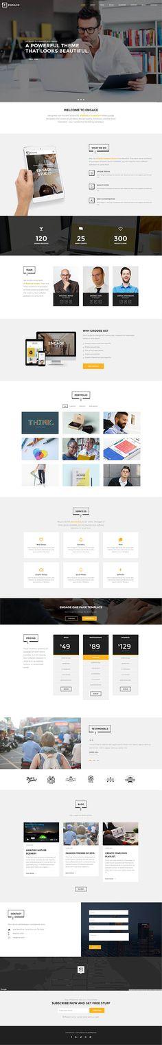 Engage – Creative One Page WordPress Theme