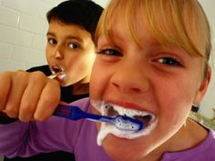 February is National Children's Dental Health month. Here are ways to ensure your kids are practicing good oral hygiene and having fun in the process. Dental Kids, Dental Care, Dental Health Month, Best Oral, Dental Services, Care Plans, Oral Hygiene, Orange Juice, Dentistry
