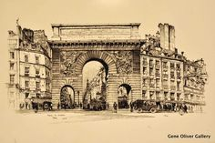 Porte St-Martin, Paris Lithograph, hand-signed in pencil by the Artist, Edition of 100, 1924