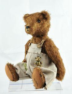 TEDDY BEAR Mohair Artist Bear brown marron   par PtitOursDuVexin