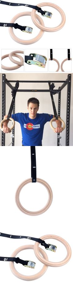 Other Gymnastics 16257: Yaekoo Wood Gymnastic Rings With Numbered Straps - Perfect For Crossfit BUY IT NOW ONLY: $35.5