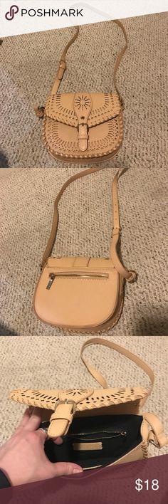 Purse/satchel Tan, hipster, unique, leather, long strap Forever 21 Bags Satchels