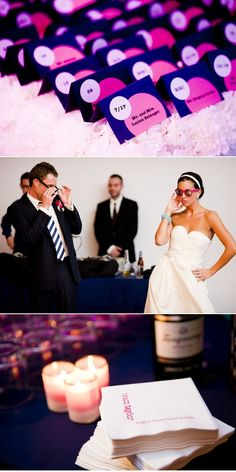 Love this whole wedding. Royal Purple Plus Navy Plus Fuchsia. Great Photography too.