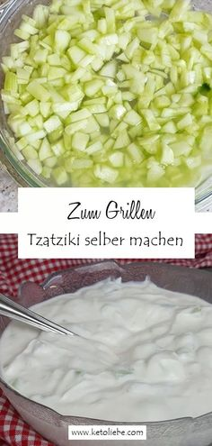 Tzatziki selber machen zum Grillen #Tzatziki #Knoblauch Lchf, Low Carb Recipes, Good Food, Vegetables, Easy Peasy, Cooking, Low Carb Food, Keto Foods, Savory Foods
