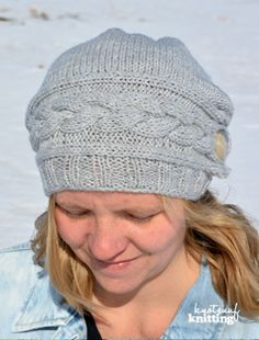 Knitting Pattern - Song of winter is a modern slouch hat that is completely seamless! Click through to get the pattern!