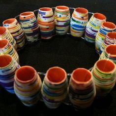 Swirly Simple Duct Tape Beads | AllFreeKidsCrafts.com